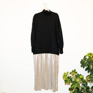 NWT ✨ ASOS  ✨black rose gold sweatshirt dress